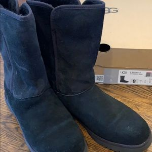 Ugg Suede Black Michelle Boots